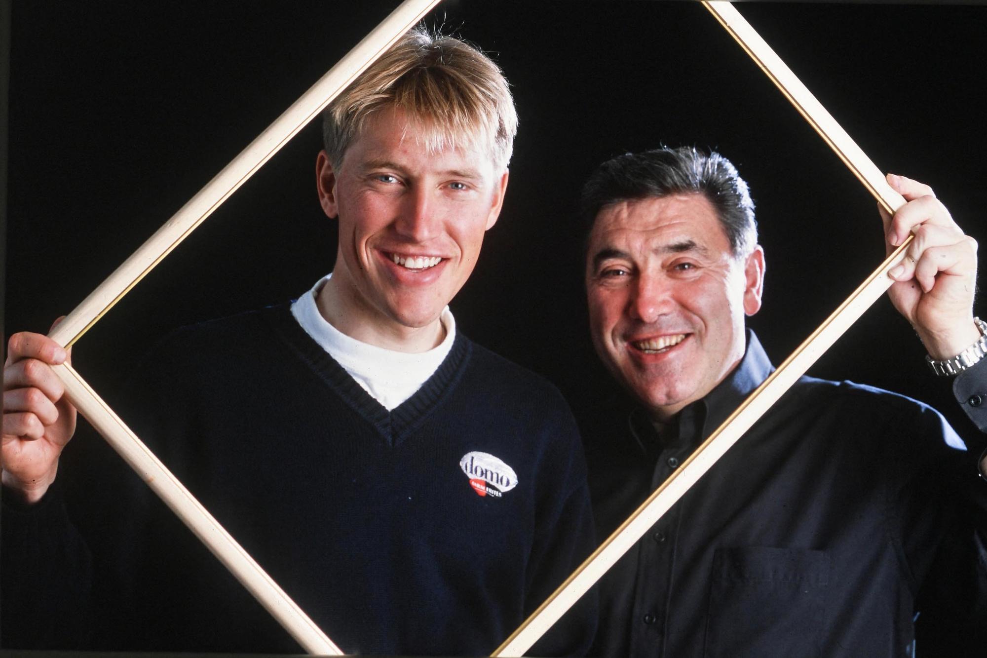 Axel Merckx over zijn vader Eddy: 'Van Himst heeft het moeilijk gehad om mijn vader te overtuigen om bij de veteranen van Anderlecht te komen spelen.', Belga Image