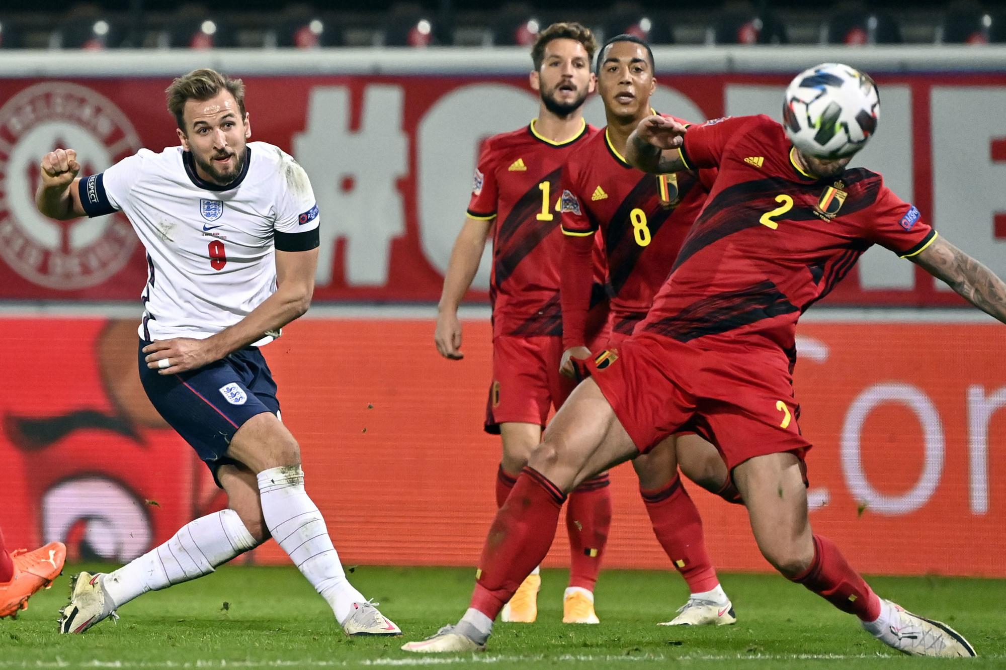Wordt Harry Kane opnieuw topschutter van een landentoernooi?, Belga Image