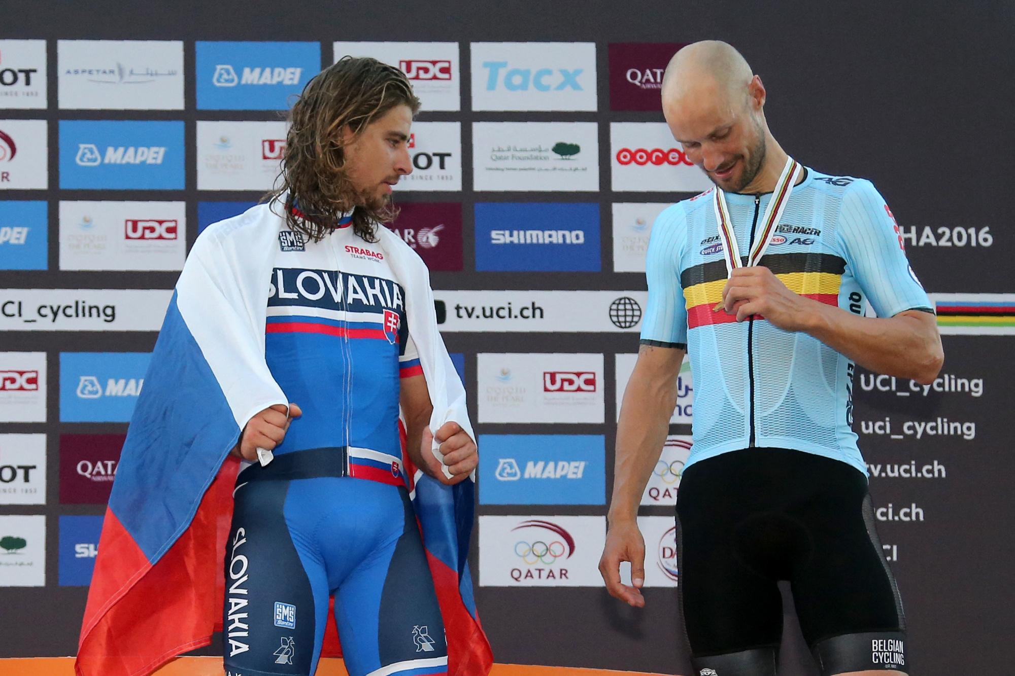 En 2016, Peter Sagan s'offrait son deuxième titre mondial devant Cavendish et Tom Boonen. On espère qu'il ne frustera pas Wout Van Aert ce dimanche., belga