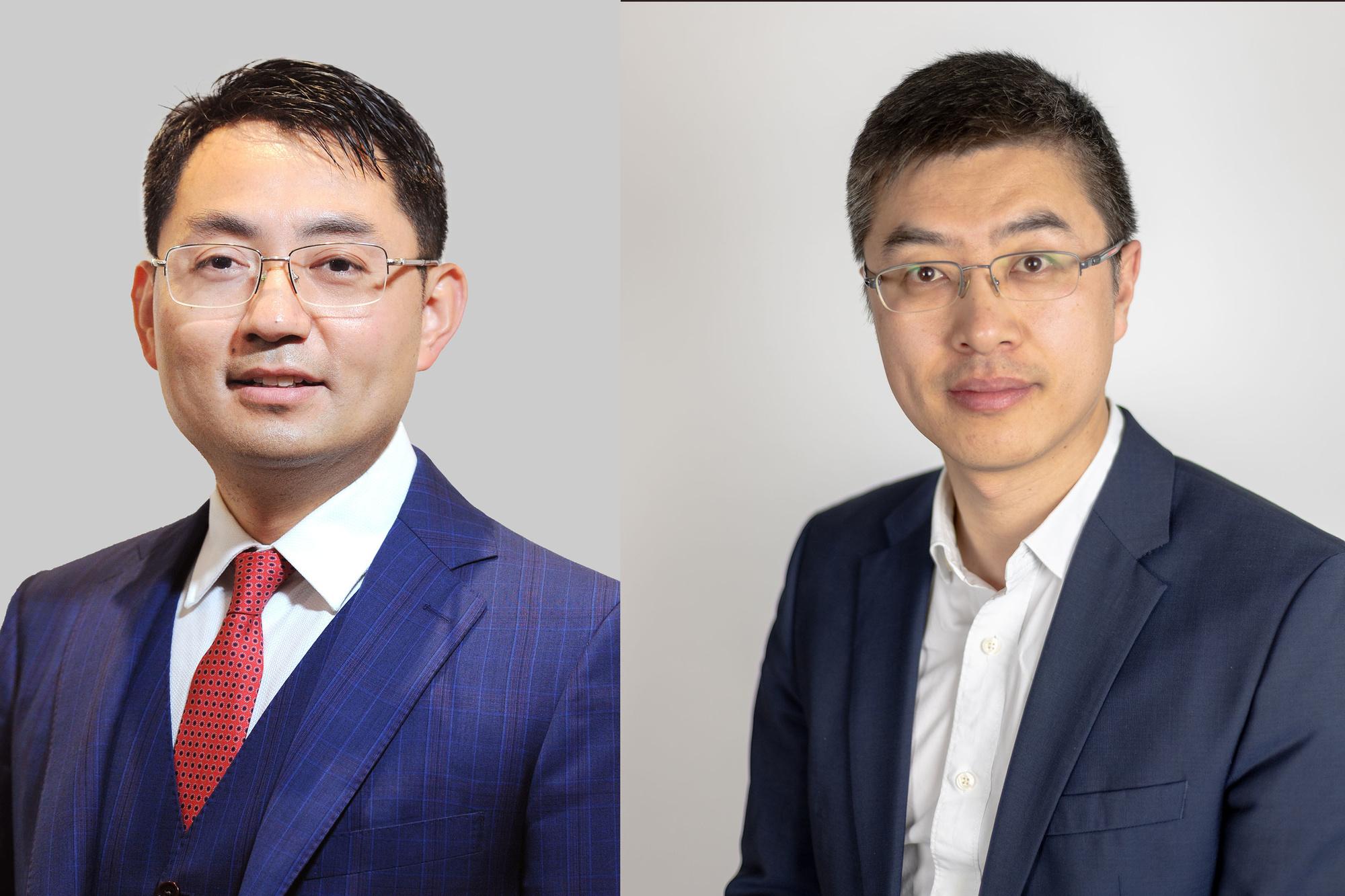 Walter Ji (links), President Of Europe (Huawei Consumer Business Group) en Allen Yao (rechts) Country Manager Huawei Belgium & Luxembourg (Consumer Business Group), Huawei