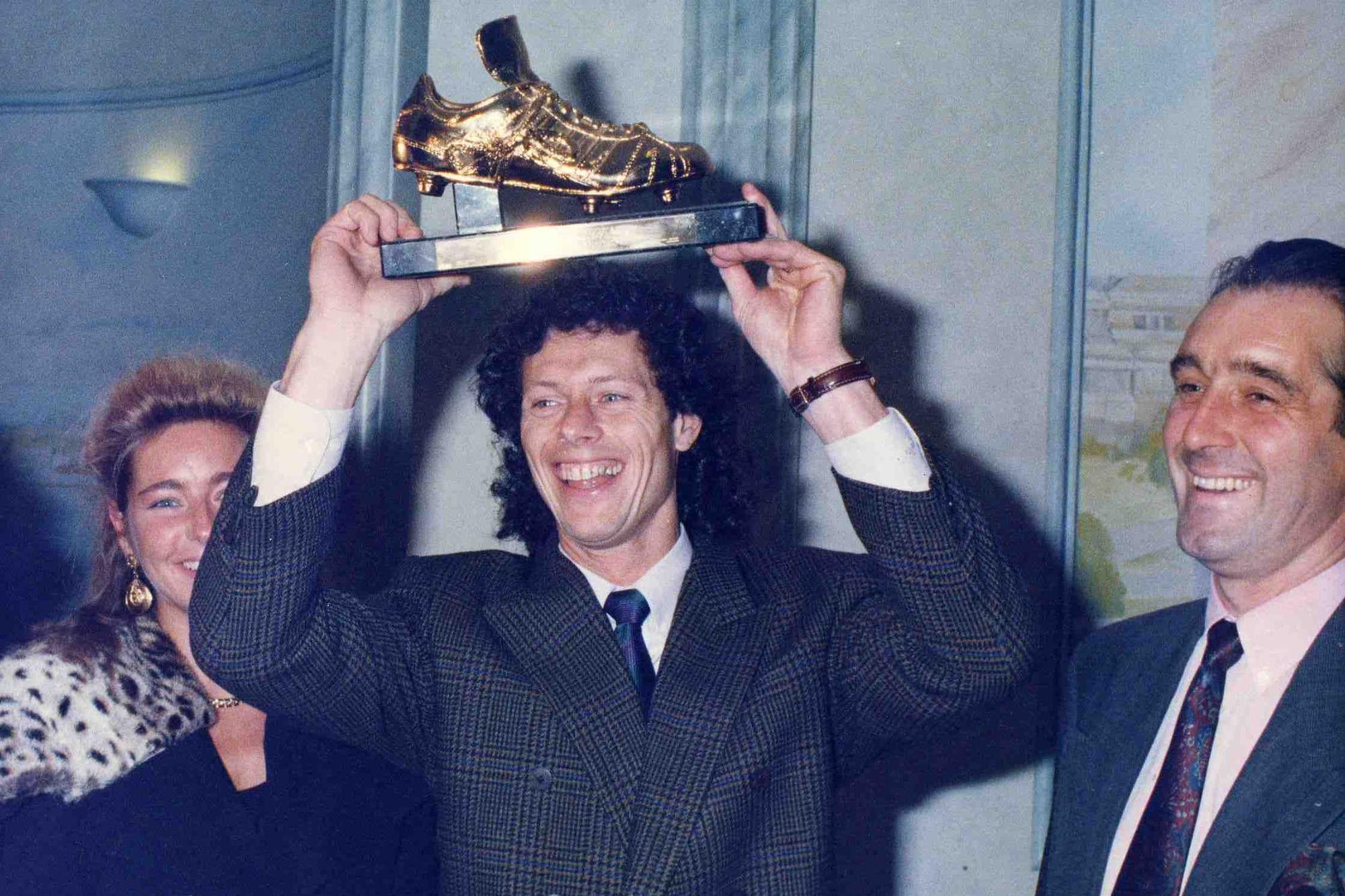 Michel Preud'homme pronkt met de Gouden Schoen, Belga Image