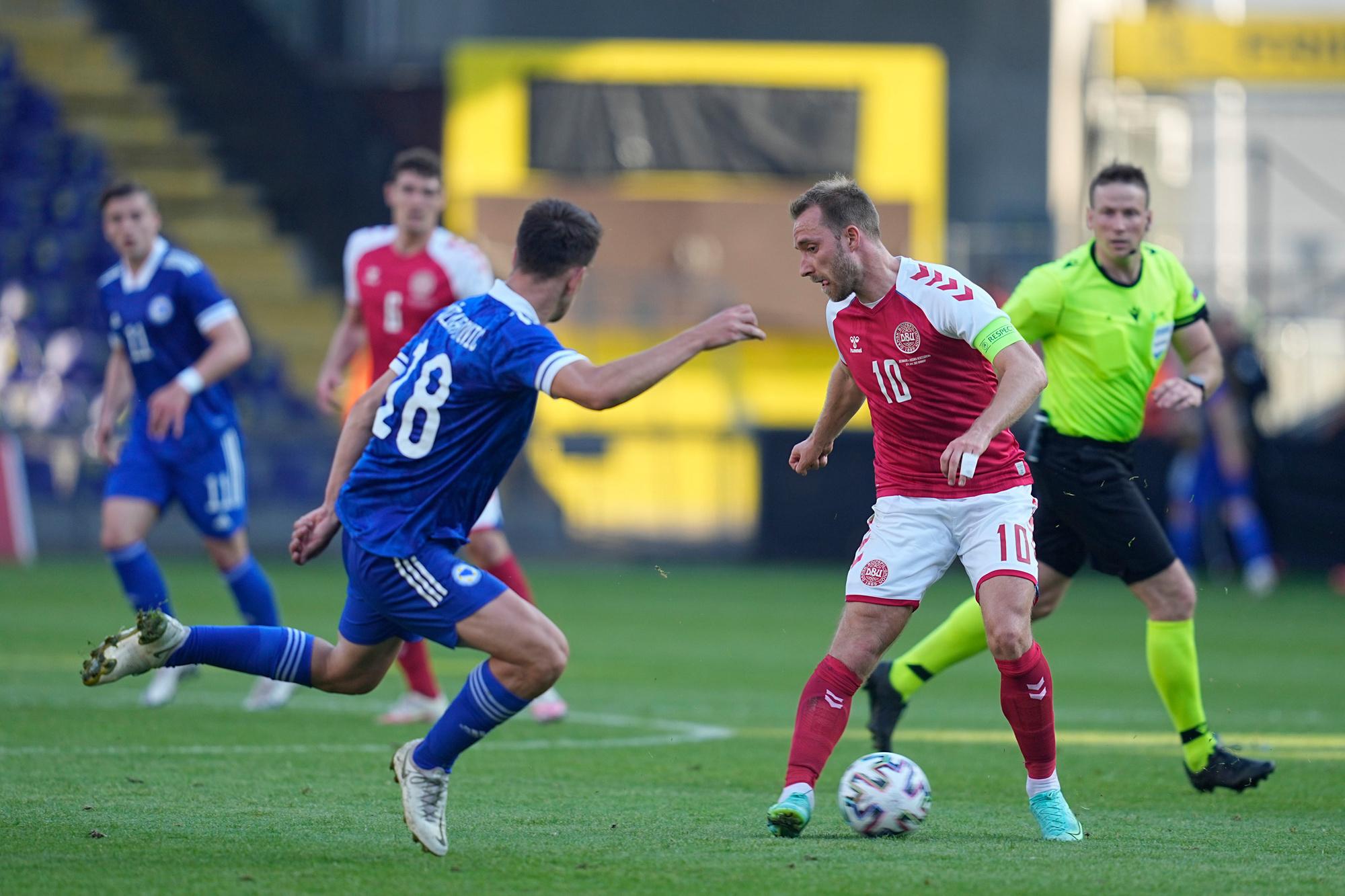 Eriksen moet Denemarken nog eens naar de volgende ronde op een EK brengen, GETTY