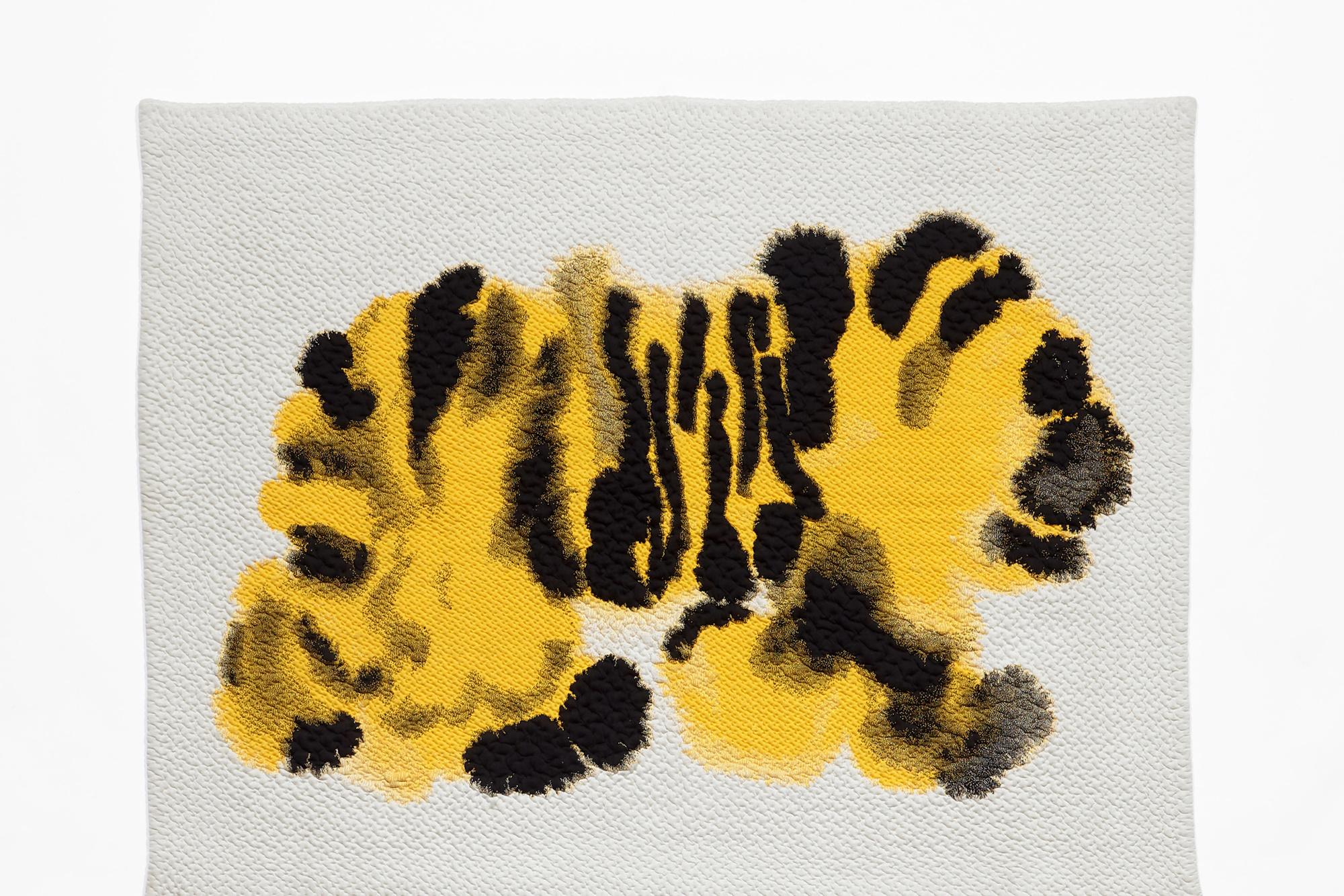Een plaid met de typische tijgerprint van Rop Van Mierlo, Rop Van Mierlo