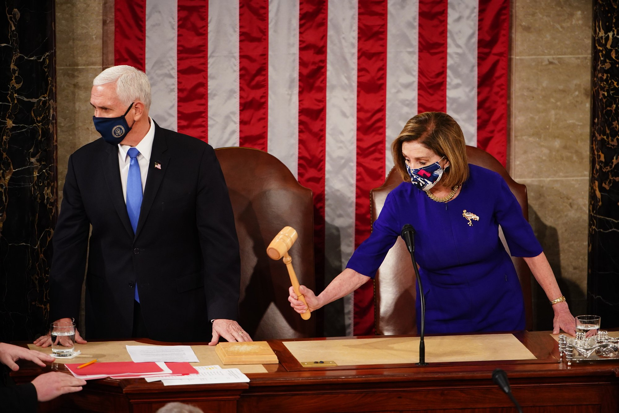 Nancy Pelosi et Mike Pence, BELGAIMAGE
