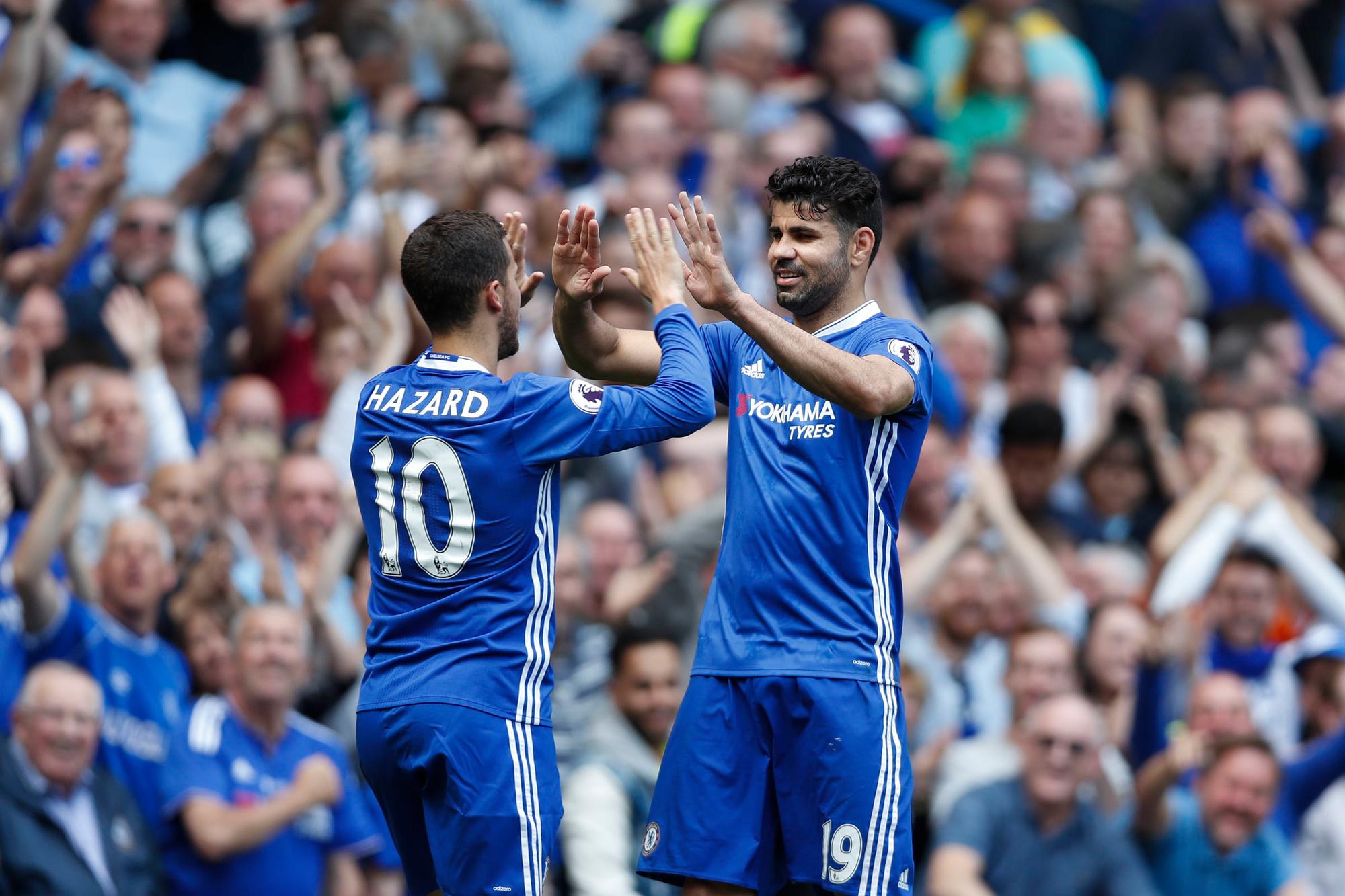 Diego Costa was de perfecte spits voor Chelsea: hij scoorde veel, maakte oorlog in de zestien en kwam goed overeen met Eden Hazard, Belga Image