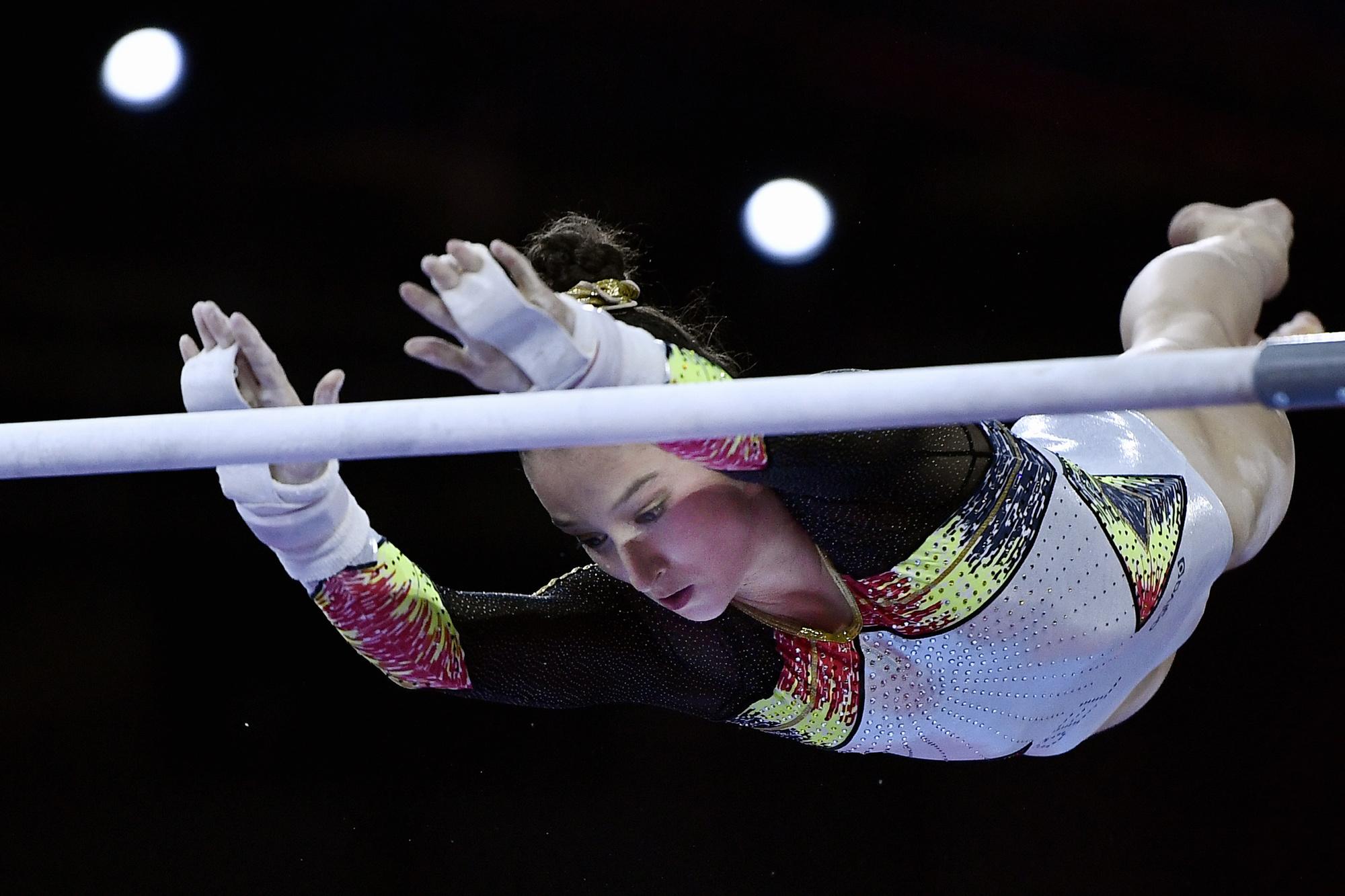 Met Nina Derwael lijkt België al minstens 1 gouden medaille te veroveren op de Olympische Spelen in Tokio., Belga Image