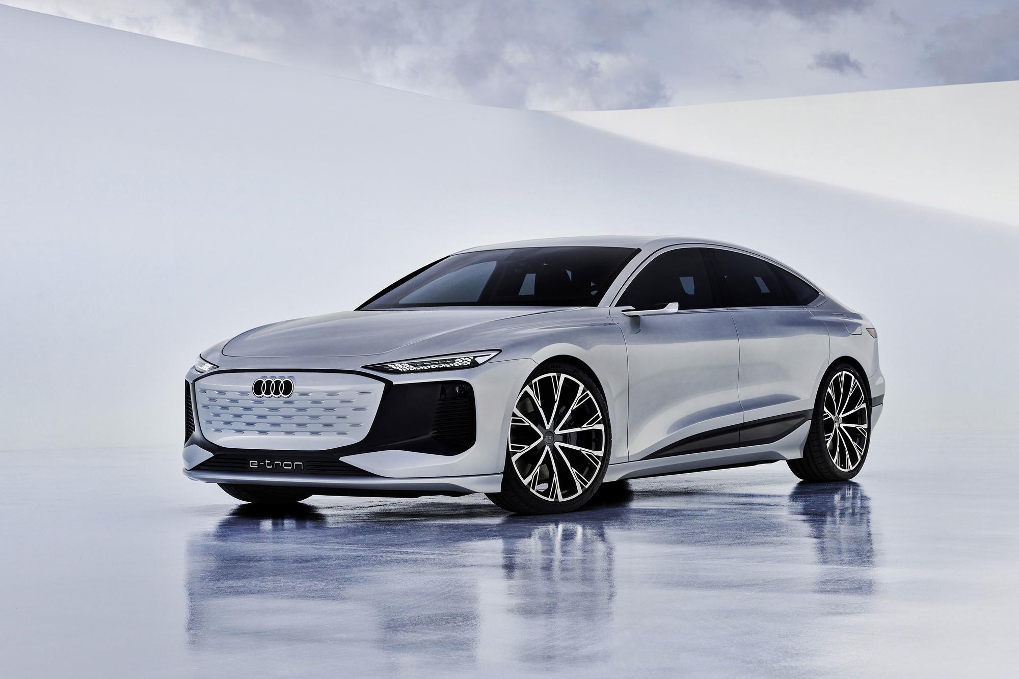 De Audi A6 e-tron staat op het nieuwe PPE platform dat ook door Porsche en Bentley zal worden gebruikt, .