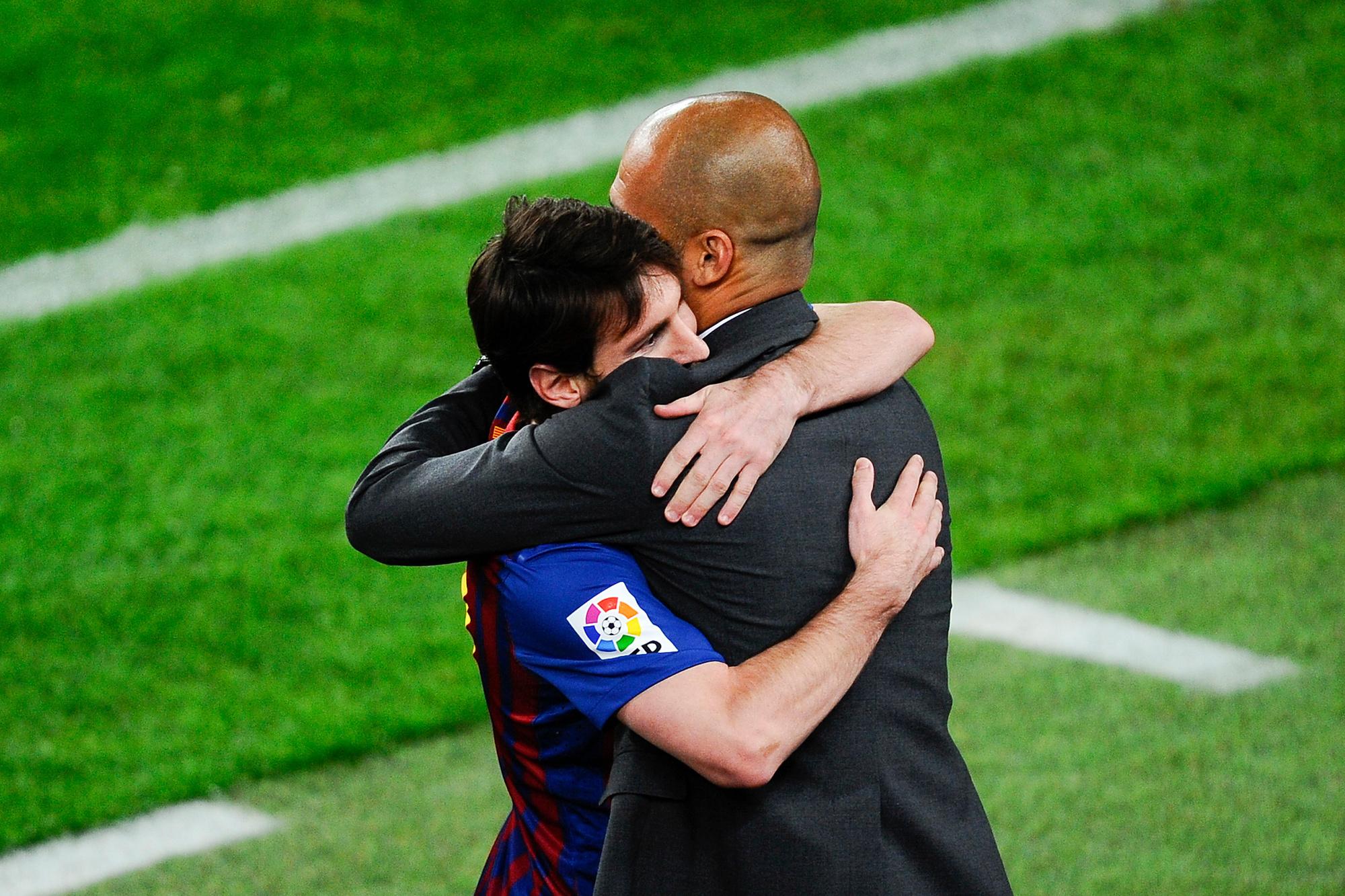 Messi zou maar wat graag terug willen samenwerken met Pep Guardiola, GETTY