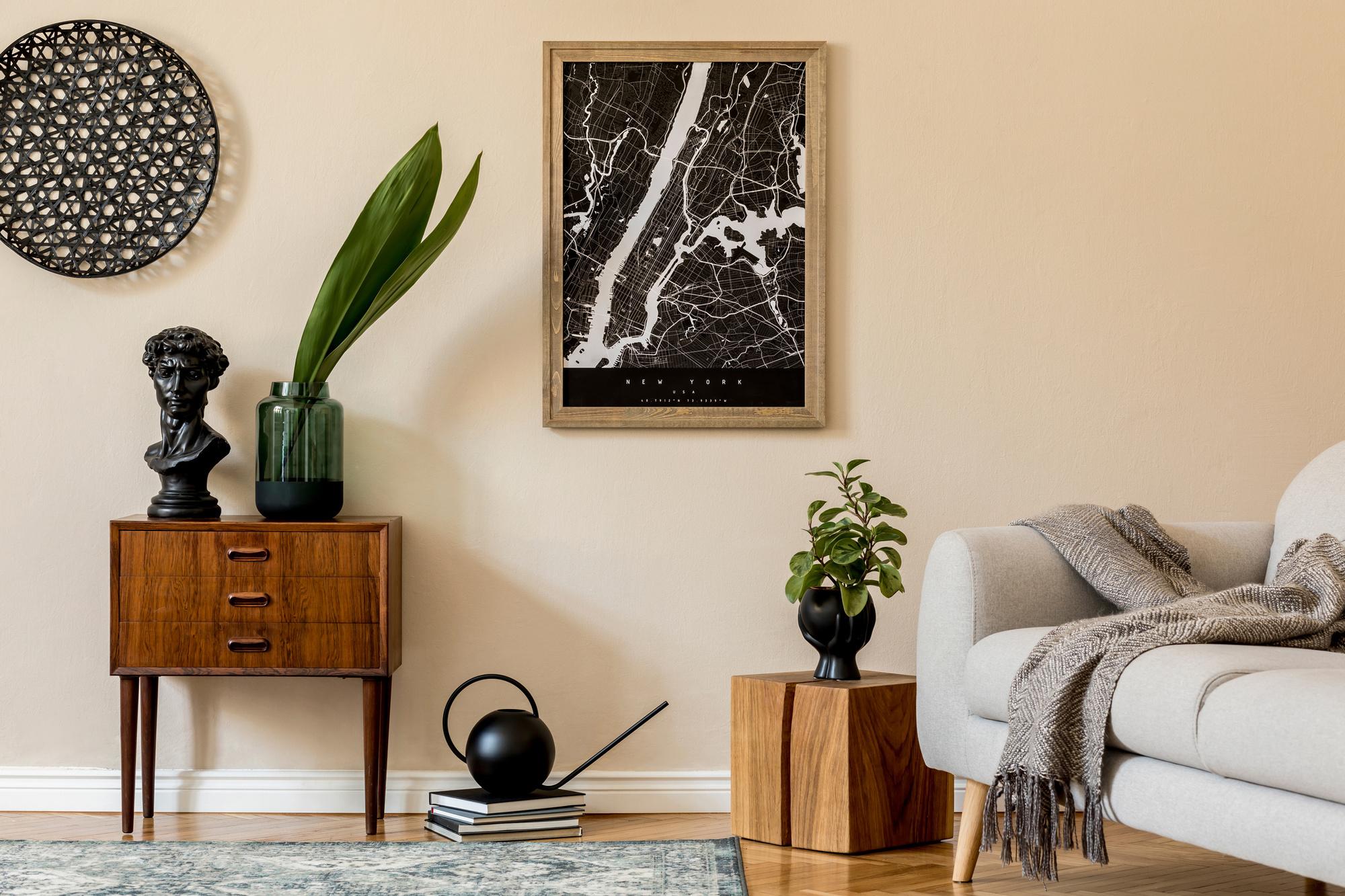 Strakke lijnen en natuurlijke materialen vormen de basis voor de Japandi-stijl., Getty Images