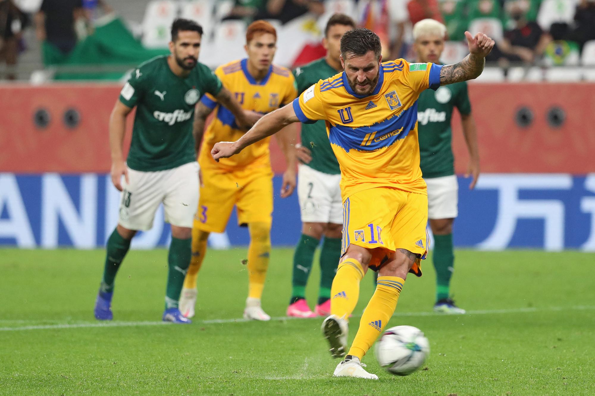 Een penalty van Gignac was genoeg om Palmeiras aan de kant te schuiven, Belga Image/AFP