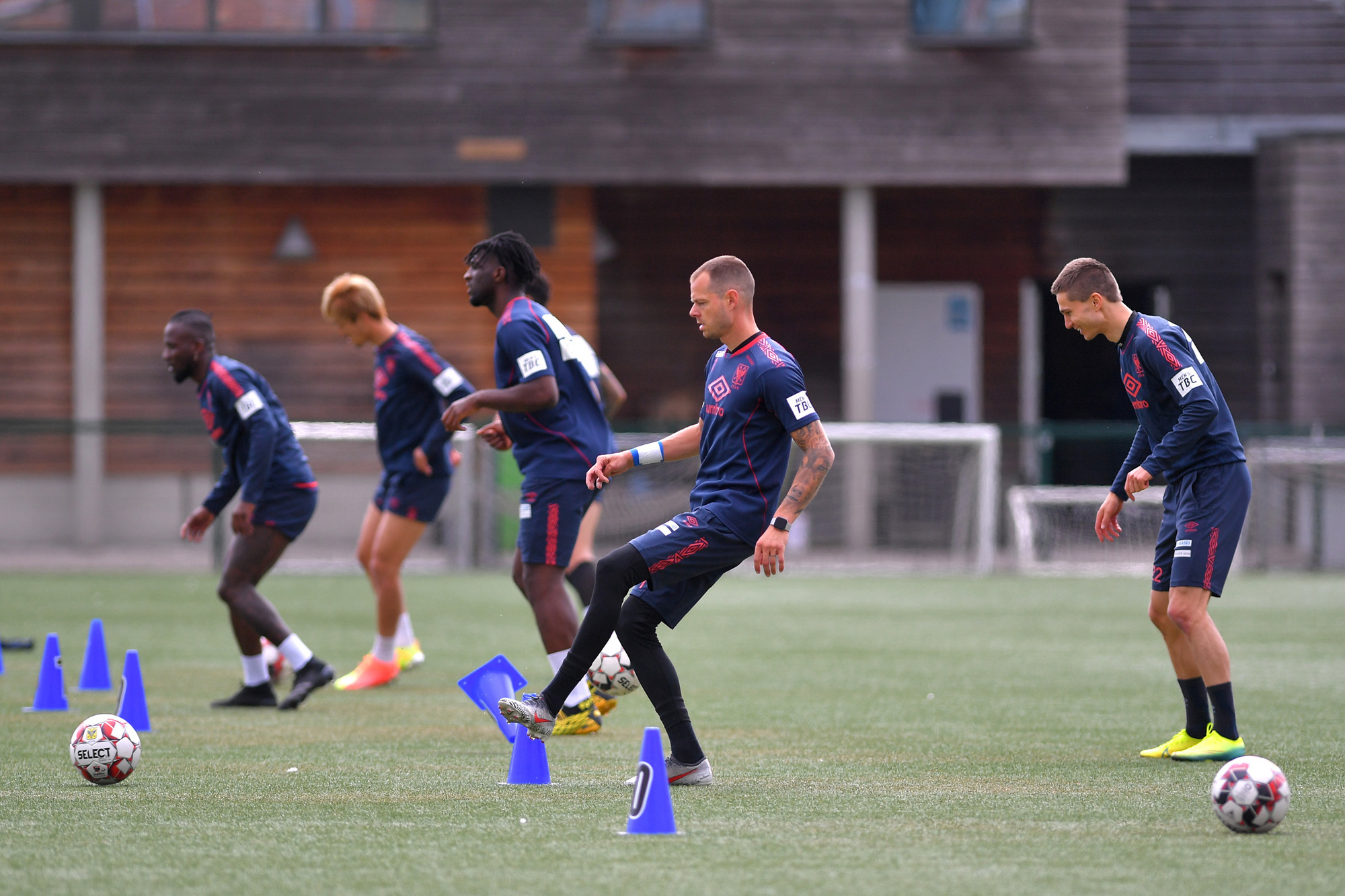 STVV hervatte als een van de eerste ploegen de trainingen., Belga Image