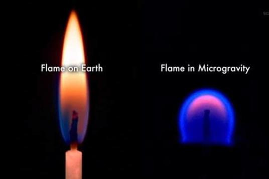 Vuur gedraagt zich anders in de ruimte dan op aarde., Nasa