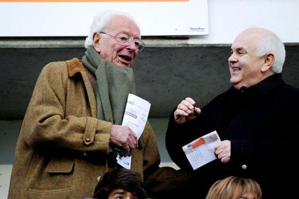 Ex-KAA Gent-voorzitter Jean Van Milders en Ivan De Witte, Belga Image