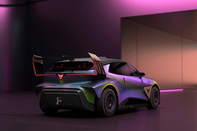 Onder het spectaculaire koetswerk schuilt een elektrische auto., GF
