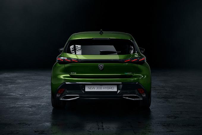 De Peugeot 308 introduceert het nieuwe merklogo, GF