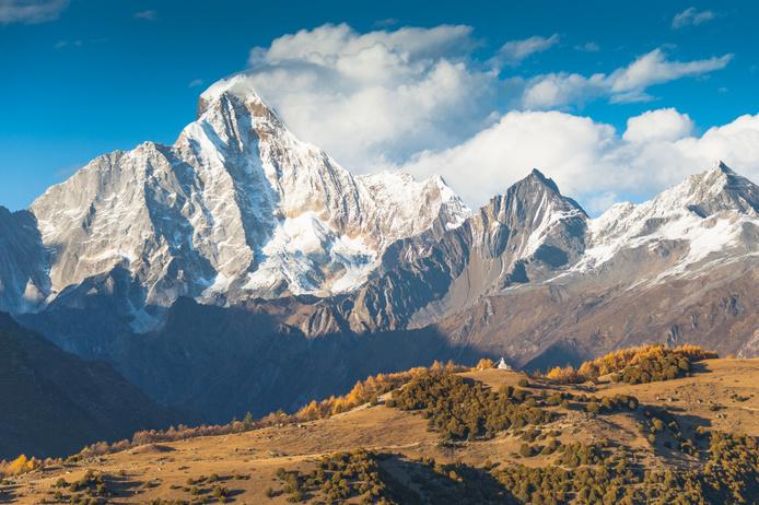 De bergen in de Chinese provincie Yunnan, waar Alexandra David haar reis begonnen is, Getty Images
