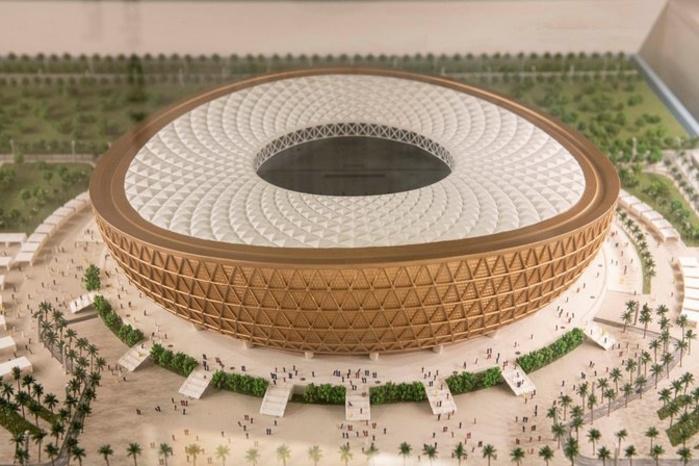 Maquette du stade de Lusail., GETTY