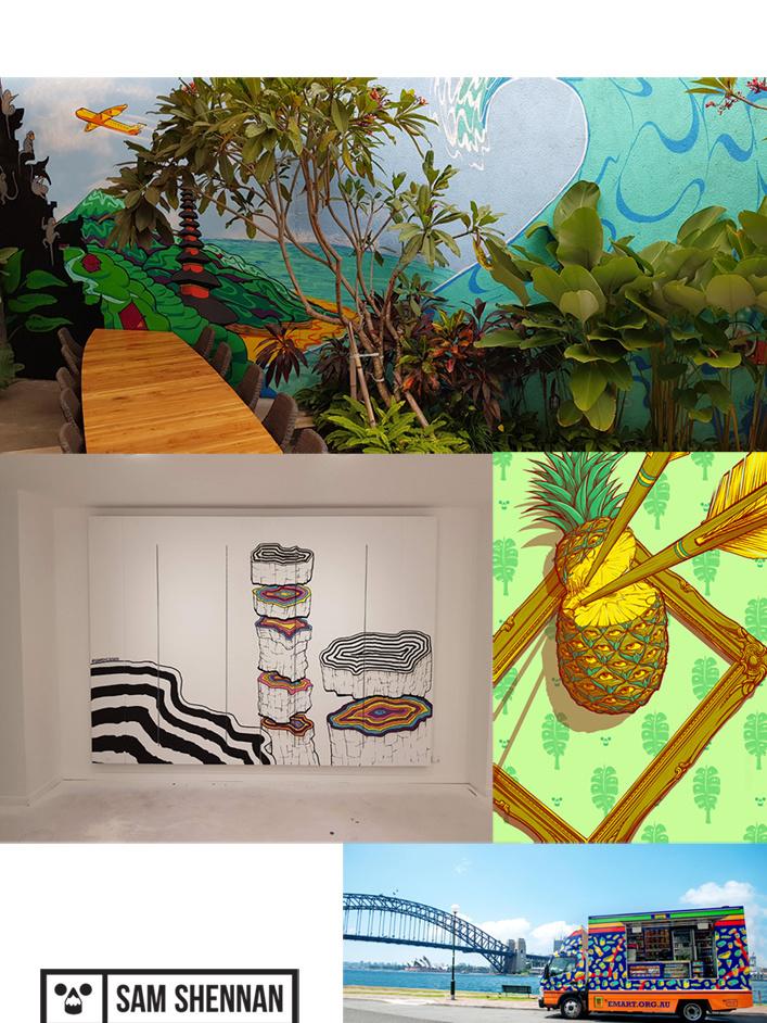 Op 3 en 4 april zal muurschilder Sam Shennan live een zelfontworpen muurschildering voor de pop-up realiseren., citibee