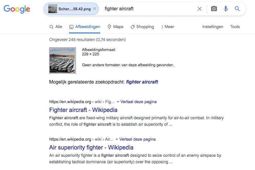 Screenshot Google, Google