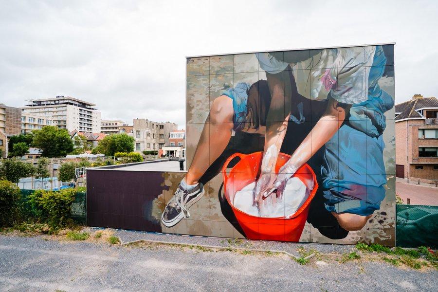 Het werk van Case Maclaim, Foto Visit Oostende
