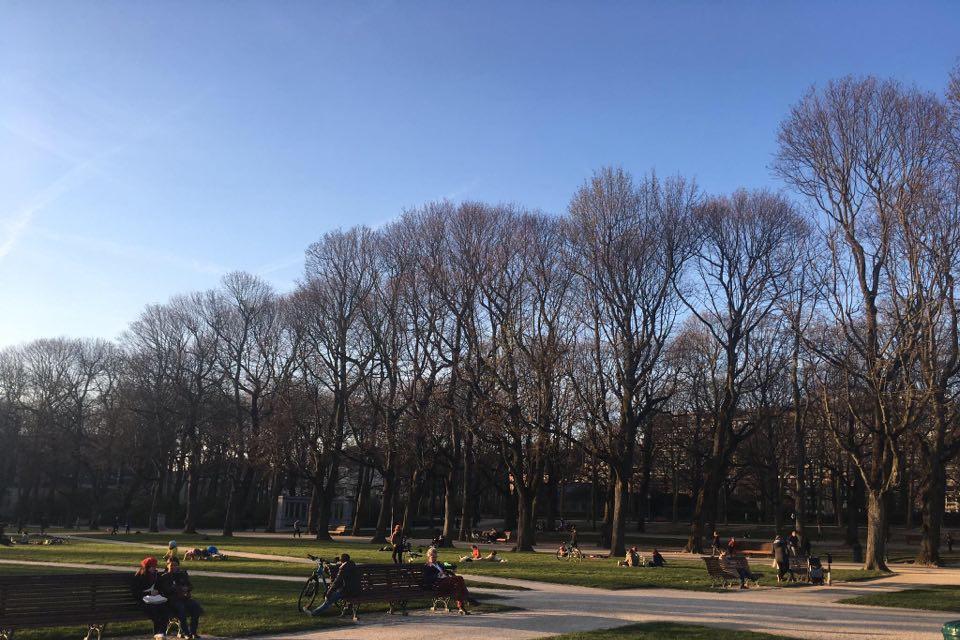 Le Parc du Cinquantenaire mercredi 18 mars., Céline Bouckaert