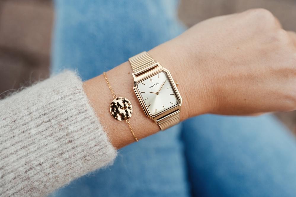 Montre Angèle et bracelet Luz - Gold Amalys, Hadrien Hanse