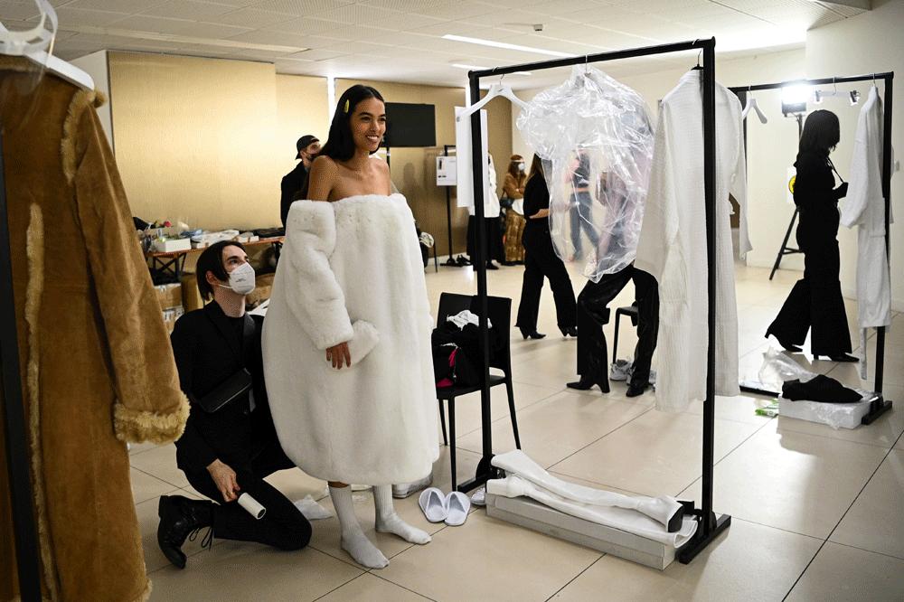 Backstage chez Coperni, Getty Images