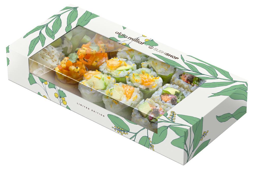 Sushibox végétarienne d'Alain Milliat, DR