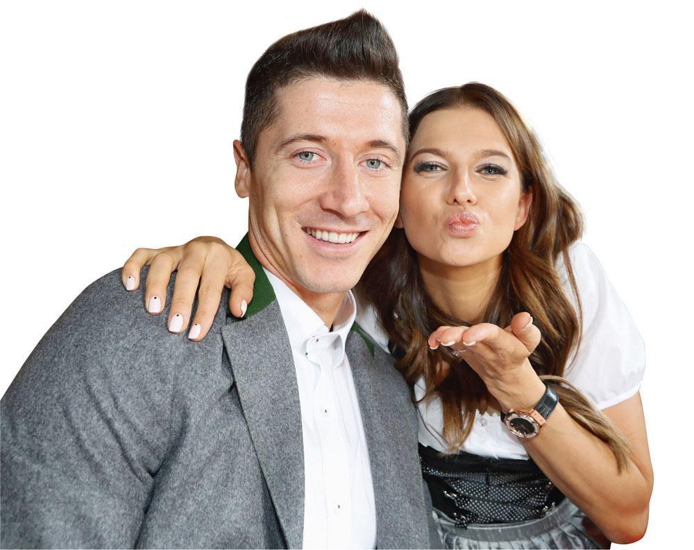 RL9 et son épouse Anna. Ils se défendent d'être les Beckham polonais., belgaimage