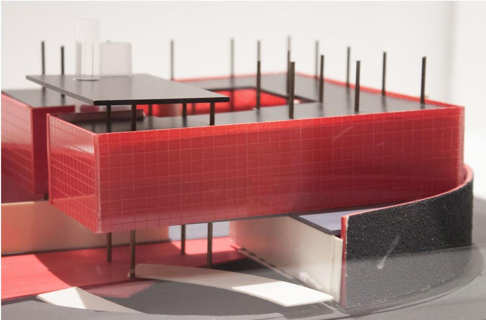 Een nooit gerealiseerd ontwerp van Jos van Eldink voor het Russische consultaat in New York uit 1987., GF / deSingel