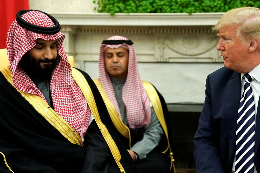 Le prince héritier saoudien Mohammed ben Salmane face à Donald Trump, le 19 octobre 2018 à Washington , Reuters