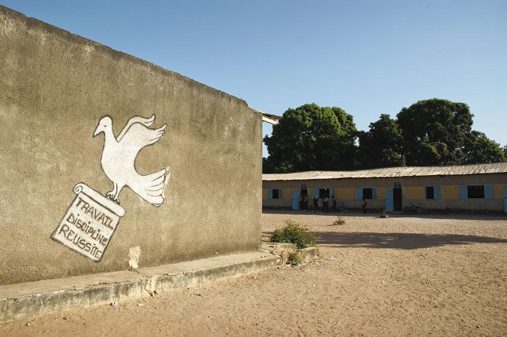 Le collège où Krépin Diatta a étudié jusqu'à ses 16 ans., christian vandenabeele