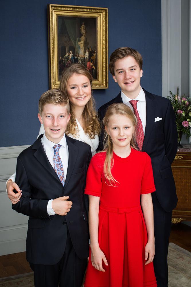 La princesse Élisabeth, le prince Gabriel, le prince Emmanuel, et la princesse Éléonore, Belga