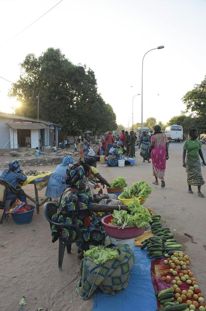 Vente de fruits et légumes à Ziguinchor, la capitale de la casamance., christian vandenabeele