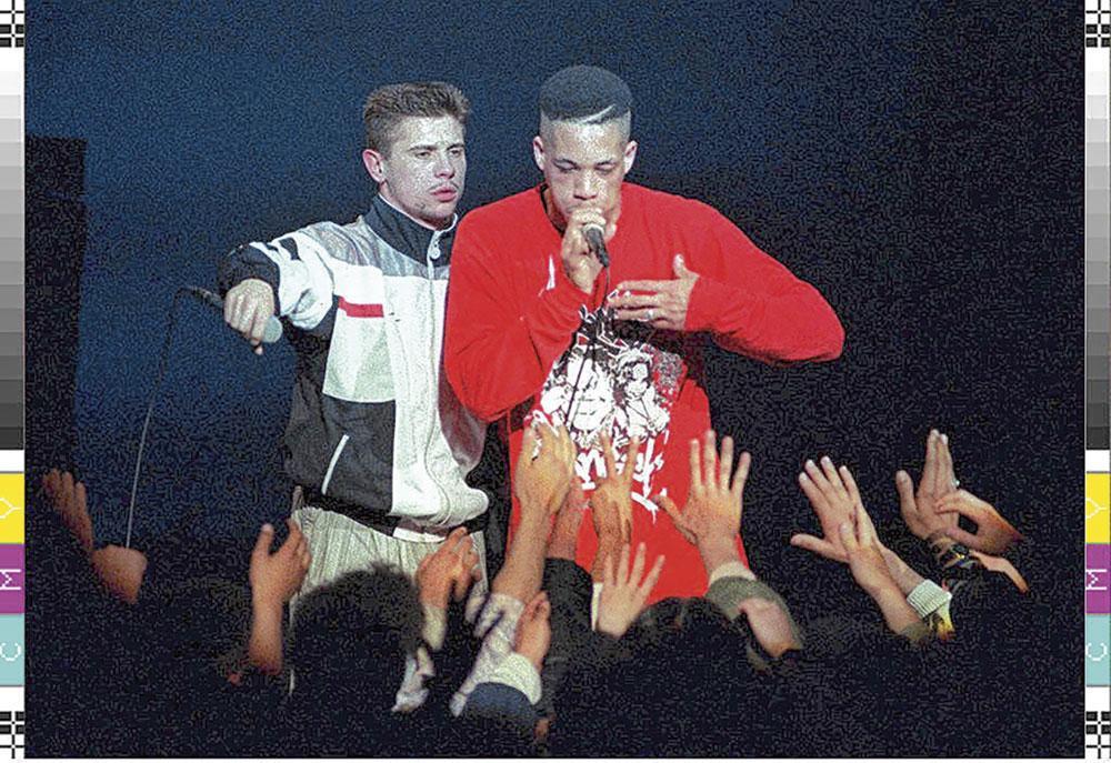 Kool Shen et JoeyStarr, en 1991., belgaimage
