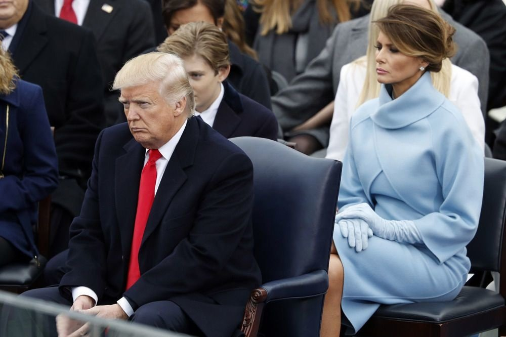 Melania Trump en Ralph Lauren, le jour de l'investiture de Donald, Reuters