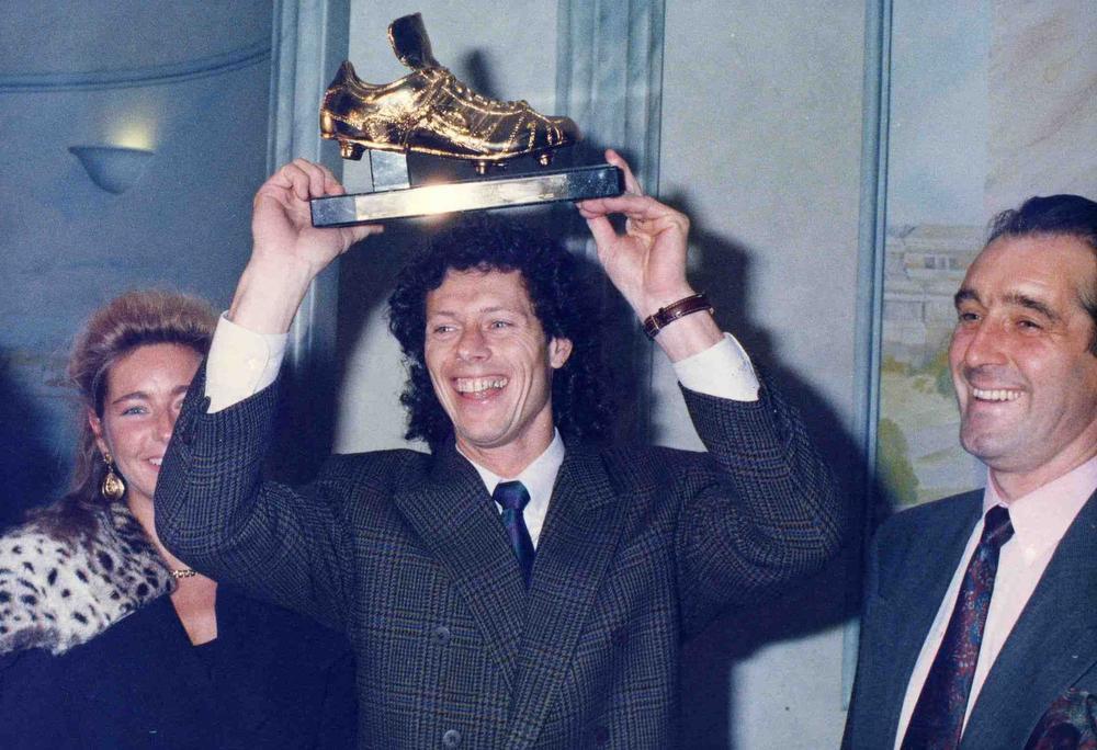 Michel Preud'Homme ontvangt in 1989 de Gouden Schoen., BELGAIMAGE