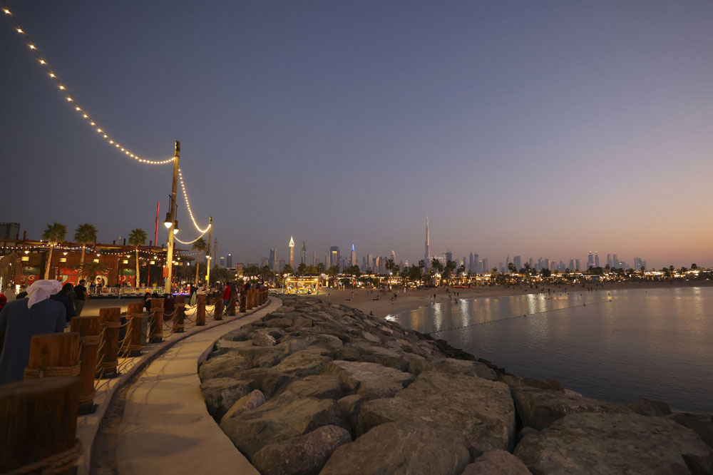 Dubai la nuit, janvier 2021, AFP