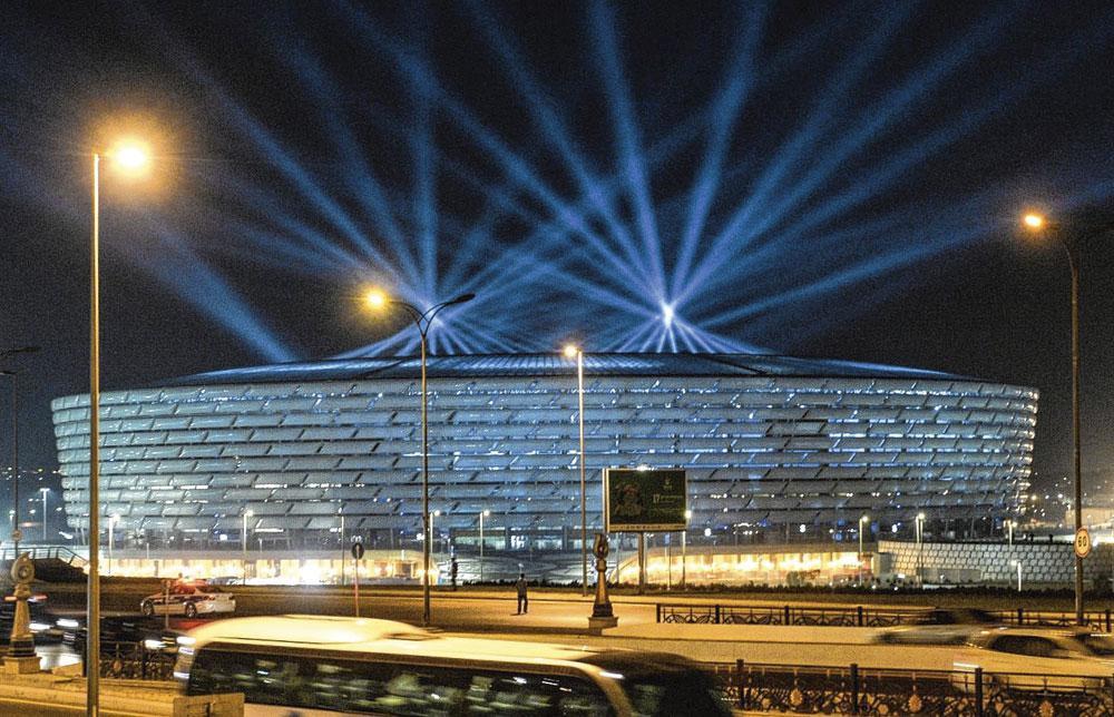 Bakou GROUPE A stade olympique capacité 69 870 3 matchs de groupe 1 quart de finale, belgaimage