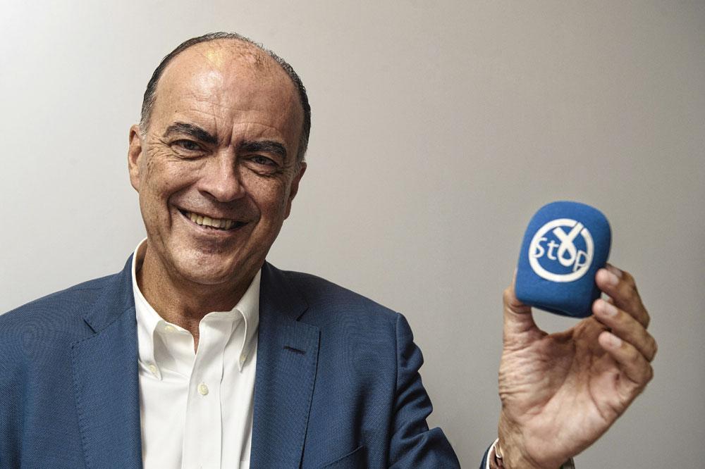 """Luc Colemont is er voorstander van om te beginnen screenen op darmkanker vanaf de leeftijd van 45 jaar. """"45 jaar is het nieuwe 50."""", Jerry De Brie"""