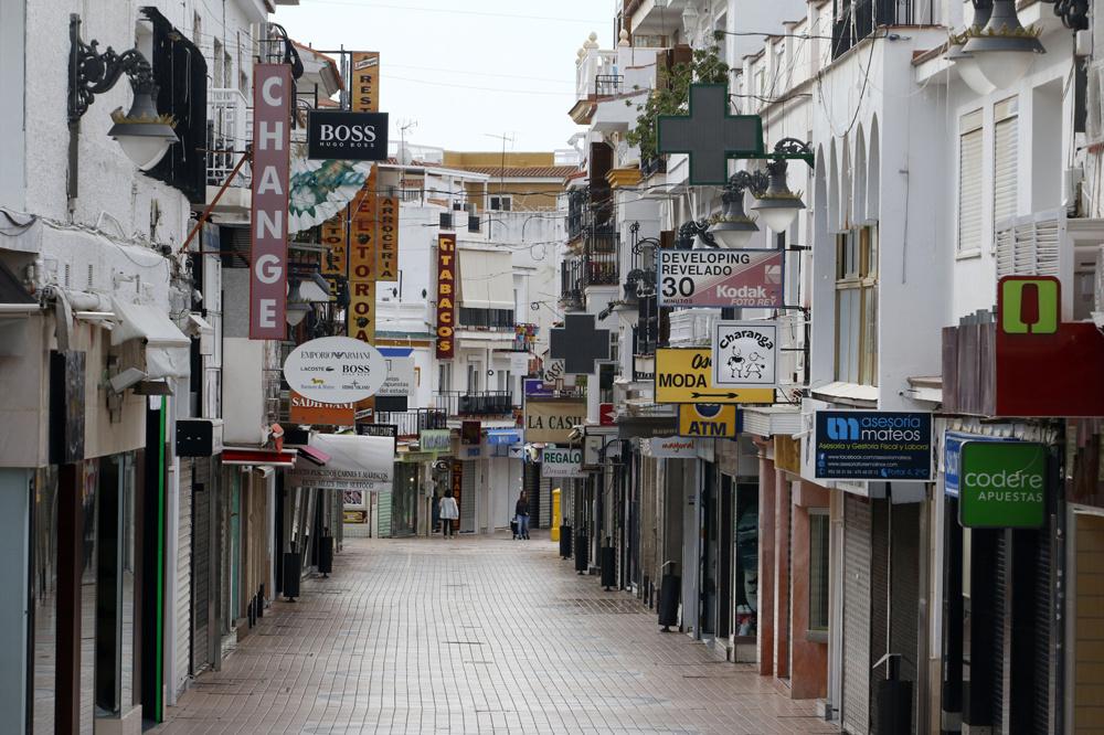 Les rues de Torremolinos, en avril 2020, en plein coeur de la crise, Getty Images