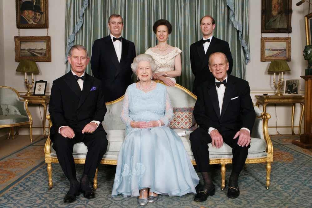 Le prince Philip, la reine et leur progéniture, Getty