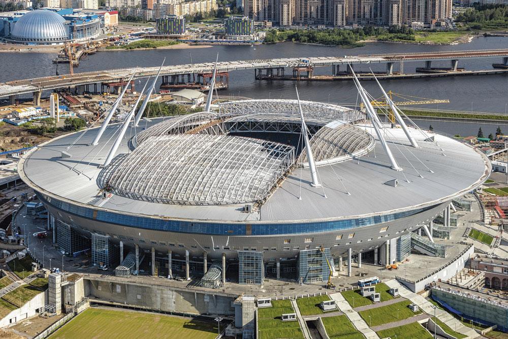 Saint-Pétersbourg GROUPE B krestovsky stadium capacité 69 501 3 matchs de groupe 1 quart de finale, belgaimage