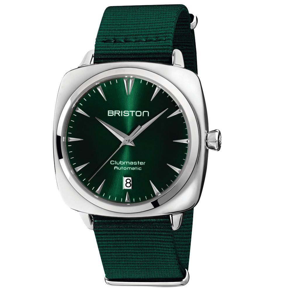 Montre automatique Clubmaster Iconic, en acier inoxydable, avec bracelet en Nylon, Briston, 370 euros., SDP