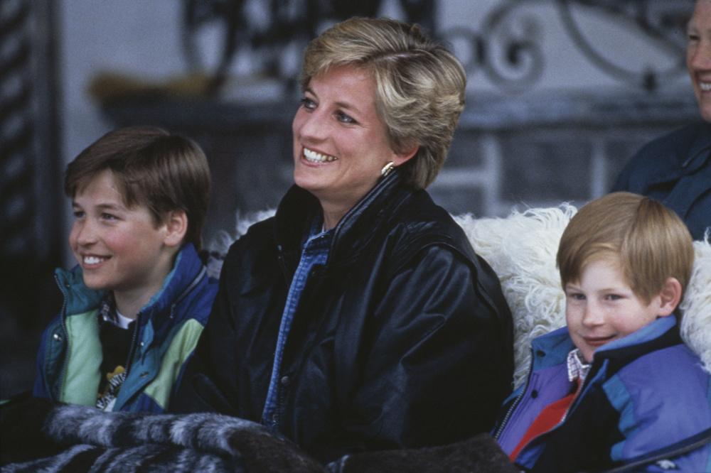 En 1993, Lady Diana skie en Autriche avec ses fils, Getty Images