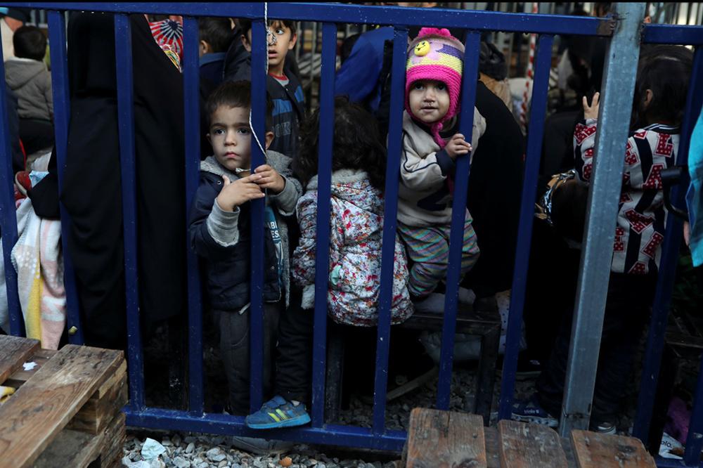 Kinderen in het kamp Moria, op Lesbos, Griekenland, op 27 november 2019., Reuters