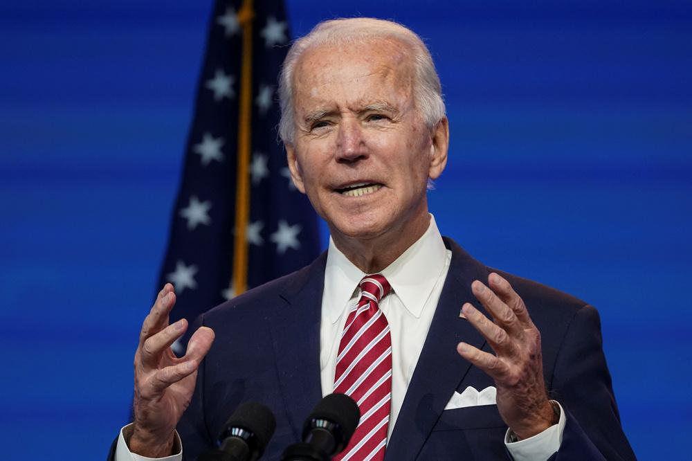 Joe Biden à Wilmington, le 16 novembre 2020, Reuters