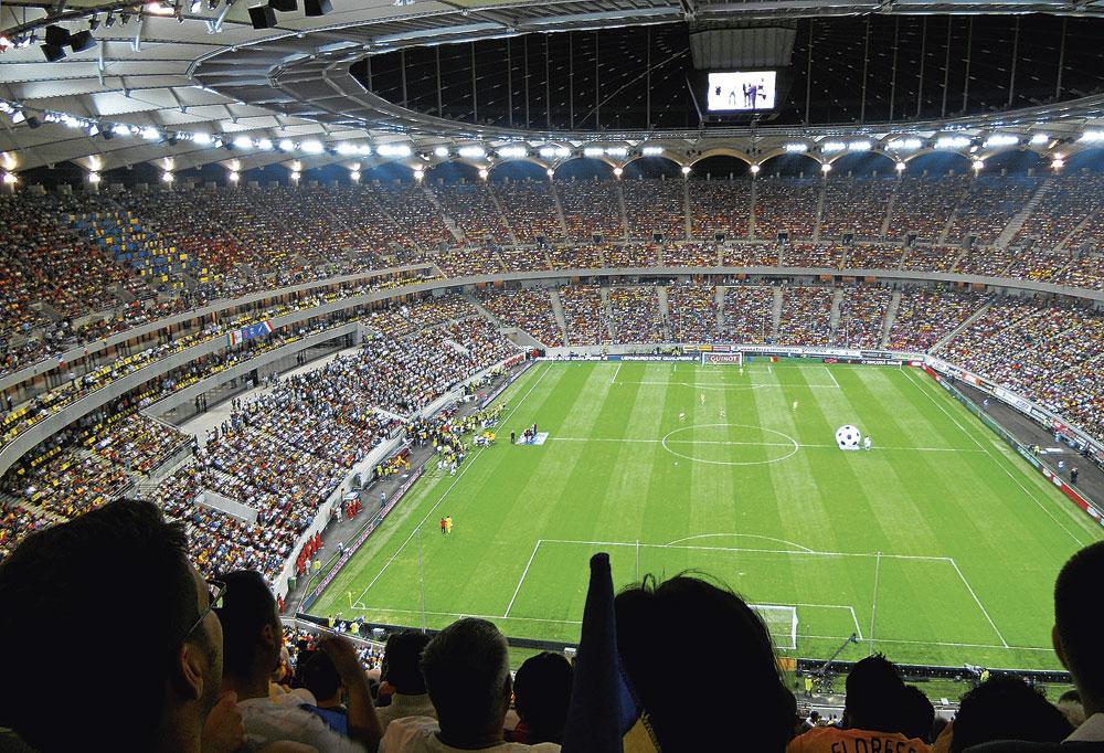 Bucarest GROUPE C arena nationala capacité 55 600 3 matchs de groupe 1 huitième finale, belgaimage