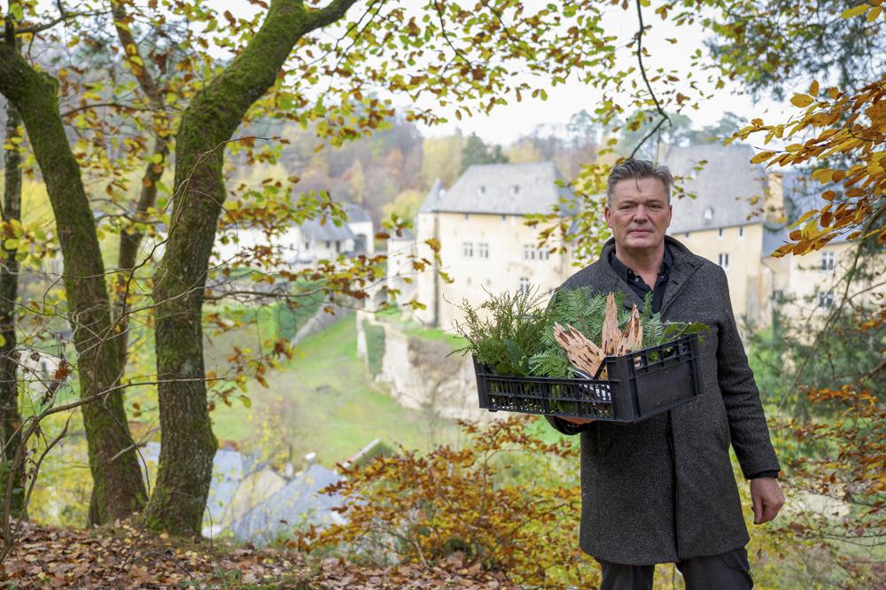 René Mathieu et sa récolte, AFP