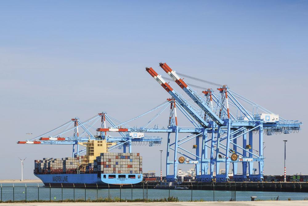 De haven van Zeebrugge, waar Citymesh een 5G-netwerk opzet.